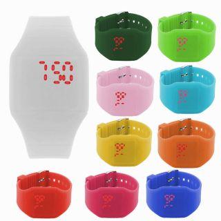 Digital Touch - Screen Sport Moderne Designer Silikon Armbanduhr Uhr Damenuhr Bild