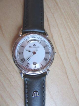 Flache Maurice Lacroix Day Date Les Classiques Armbanduhr Saphirglas Bild