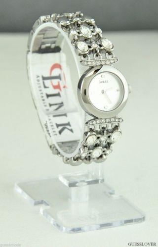Uhr Uhren Guess Armbanduhr Damen Silber Edelstahl G - Link Quarz Deu Bild
