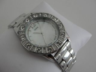 Guess Damen Uhr Sparkle Silver Perlmutt Ziffernblatt G86060l Bild