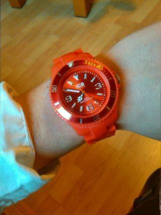 Rote Ice - Watch Uhr Bild