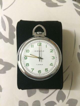 Kienzle 7 Jewels (lagersteine) Handaufzug Taschenuhr Wie Bild
