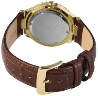 Just Damen Uhr Mondphase Leder 48 - S9254rgd - Br Rose Gold Braun Strass Bild