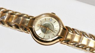 Damen Armbanduhr Lobor Feingold 999,  9 - Medaille Als Zifferblatt,  Sonst 23k Plated Bild