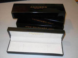 Uhrenaufbewahrung,  Uhrenboxen,  Schwarz,  Lederoptik,  Akribos Bild