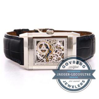 Armbanduhr Jaeger Lecoultre Platinum Reverso Skelett Manuell - Aufdrehen Q2166401 Bild