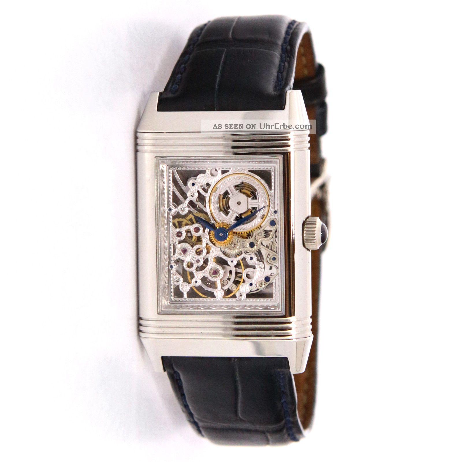 Armbanduhr Jaeger Lecoultre Platinum Reverso Skelett ...