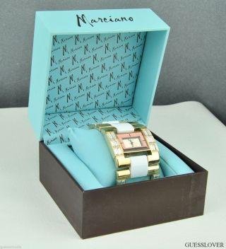 Uhr Uhren Guess By Marciano Armbanduhr Damen Gold Edelstahl Leder Quarz Deu Bild