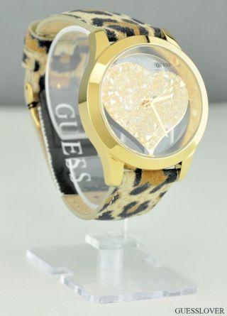Uhr Guess Leopard Leder Damen Neuf U0113l7 Deu Bild