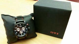 Volkswagen Gti Armbanduhr Chronograph Leder - Schwrz Bild