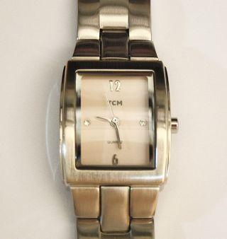 Damenuhr Tcm Edelstahl Armband Eta 802.  105 Werk Mit Neuer Batterie Damen Uhr Top Bild