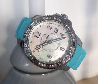 Thomas Sabo Uhr Wa011823720238mm Silikonarmband Damenuhr Türkis Uvp:298€ Bild