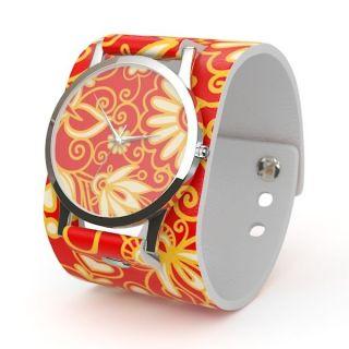 Uhr Armbanduhr Geschenk Mädchenuhr Wickeluhr Designer Uhr Mit Printdesign Bild