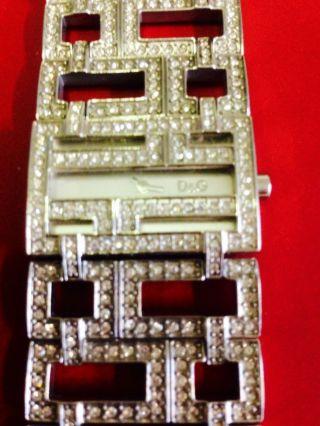 D&g Dolce Gabbana Time Uhr Mit Strass Selten Dw0044 Bild