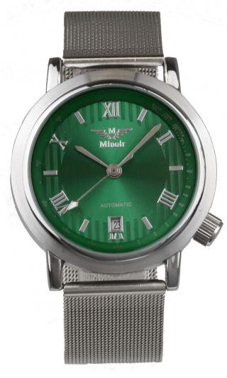"Minoir Automatikuhr ""sapois"" Damen Herren Armband Uhr Edelstahl Uhren Bild"