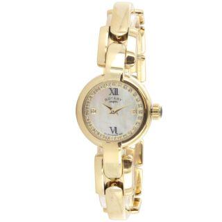Rotary Damen Uhr Quartz Analog Uhr Vergoldetes Armband Lb02852/41 Bild
