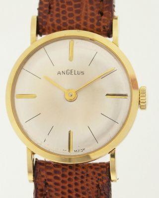 Angelus Damenarmbanduhr In 18ct Gold - Seltener Klassiker Aus Den 1960er Jahren Bild