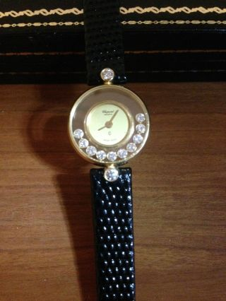 Chopard Happy Diamonds Uhr 18k / 750 Gg 12 Brillianten Bild