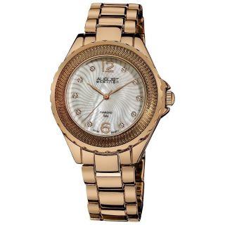 Damen Armbanduhr August Steiner As8064rg Echter Diamant Perlmutt Ziffernblatt Bild