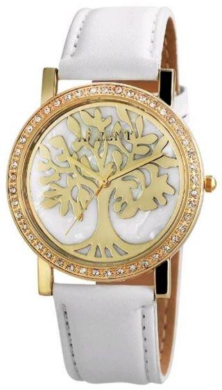 Akzent Uhr Armbanduhr Damenuhr - Weiß / Goldfarben Edelstahl / Baum - 8002000005 Bild