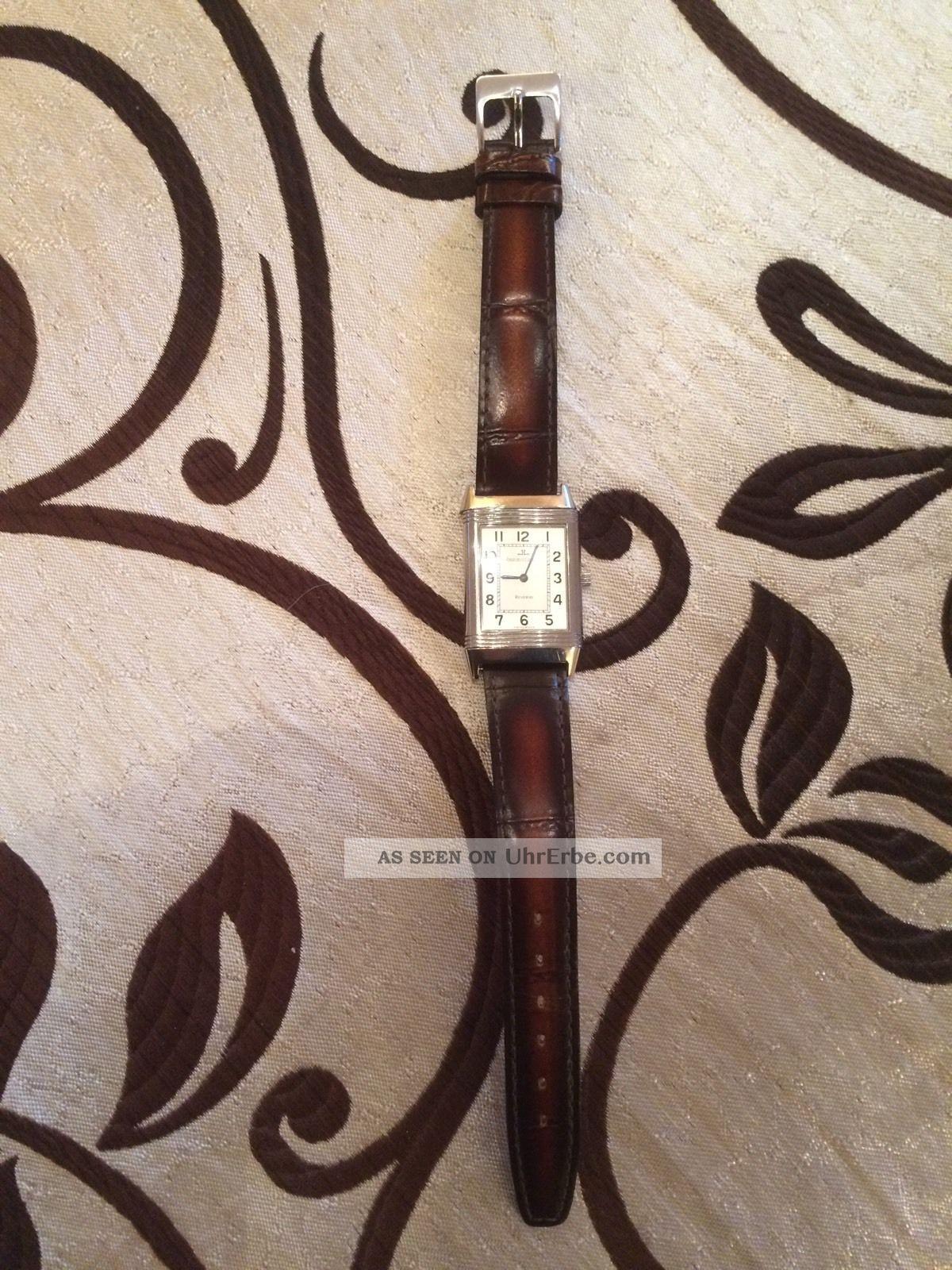 Jaeger - Lecoultre Reverso Edelstahl Handaufzug,  Kd 95,  Zertif. ,  Ovp :250.  8.  86 Armbanduhren Bild