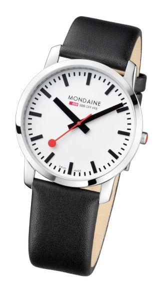 Mondaine Simply Elegant Herrenuhr Schwarz/silber A672.  30351.  11sbb Bild