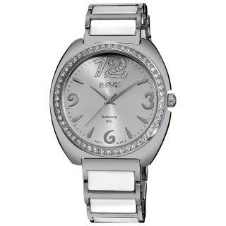 August Steiner As8066wt Diamant Akzent Keramik Glied - Armband Frauen - Uhr Bild