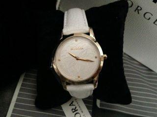 Pandora Uhr Fleur Mod.  812038ls Weiss/gold Mit Diamanten Neu Bild