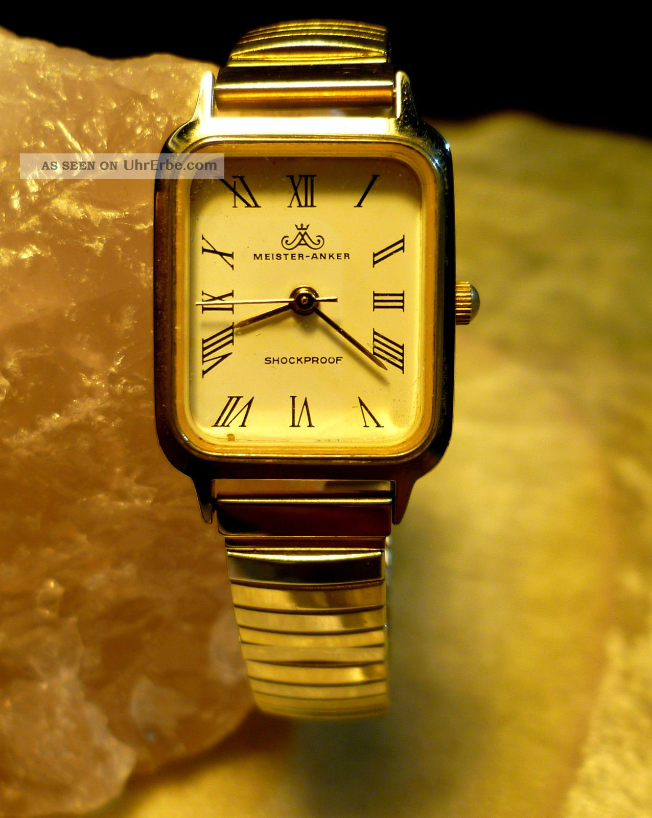 Meister Anker Damen Zugarmband Shockproof Vintage Erbstück Von Oma Armbanduhren Bild