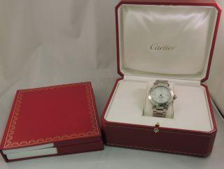 Damenuhr Cartier Pasha Ref 2475 Automatik Stahl Bild