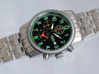 K3s,  Astroavia,  Alarm Chronograph,  Pilotenuhr,  Militäruhr,  Wecker,  Pilot Watch, Bild