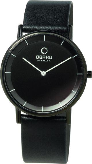 Obaku Harmony Armbanduhr V143gbbrb Edelstahl Schwarz Dänisches Design Bild