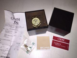 Michael Kors Chronograph Gold,  Unterschrift Bild
