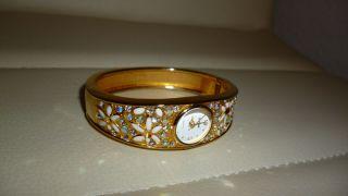 Damen Armbanduhr Rivage Golden Schön Verziert Tolles Weihnachtsgeschenk Bild
