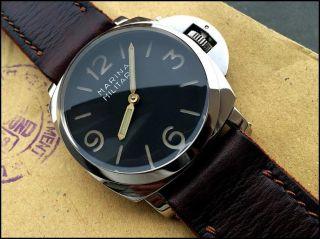 Marina Militare 47mm Vintage Handmade Diver Armbanduhr 1 A Lederstrap,  Sehr Rar Bild