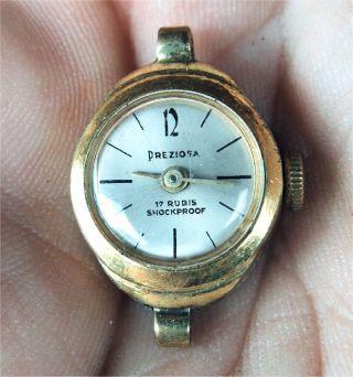 Armbanduhr Preziosa - Goldenes Gehäuse,  Damen,  Uhr,  Vintage,  Analog,  Elegant Bild