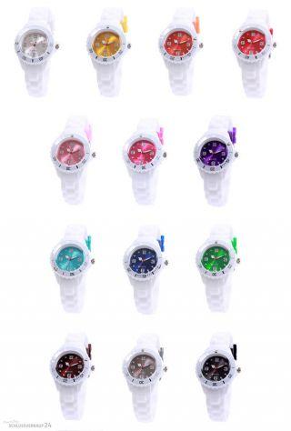 Sv24 Watch Silikon Uhr Armbanduhr Bunte Kinderuhr Damen Herren Quarz Uhren Bild