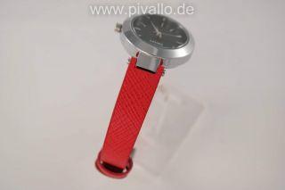Dkny Donna Karan Ny Damenuhr / Damen Uhr Leder Rot Schwarz Dezent Ny2201 Bild