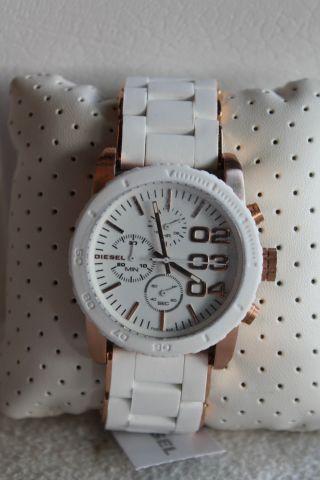 Diesel Uhr Franchise Dz5323 Weiß / Roségold Chronograph Bild