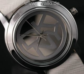 Dkny Donna Karan Ny Damenuhr / Damen Uhr Leder Silber Weiß Ny2205 Bild