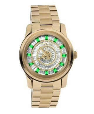 Armbanduhr Michael Kors Gold Green Glitz