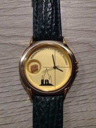 Frauenkirche - Uhr Der 17.  Edition,  Limitiert,  Mit Stein Aus Der Ruine Bild