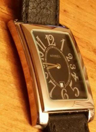 Nivrel Damen Herren Armbanduhr Klassischer Stil Edelstahl / Leder Bild