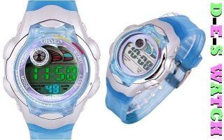 Digital Armbanduhr Für Kinder Mit Datum Licht,  Stoppuhr / Sport Uhr Blau / Rosa Bild
