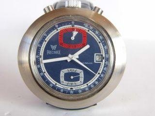 Herrenuhr,  Großer Chronograph Precimax Bullhead Handaufzug Kal.  7734 - Werk Läuft Bild