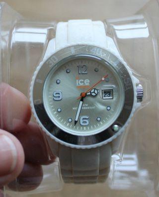 Ice Watch Uhr Für Damen / Herren Weiß Mit Silikonarmband Bild
