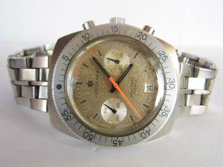 Herrenuhr Junghans Chronograph Handaufzug Valjoux 7734/datum Läuft In Edelstahl Bild