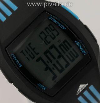 Adidas Herrenuhr / Damenuhr / Uhr Silikon Schwarz Blau Digital Adh6048 Bild