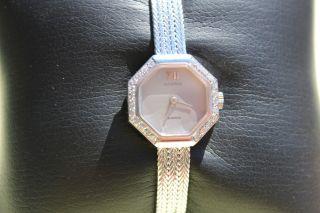 Juvenia 750er 18karat Weißgold Brillant Damen Uhr 27,  8 Gr Quarz 18,  Cm Wie Bild