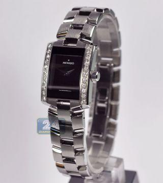Damen Armbanduhr Diamant Movado Eliro 0604133 0.  60k Vs2 G Massgefertigte Blende Bild